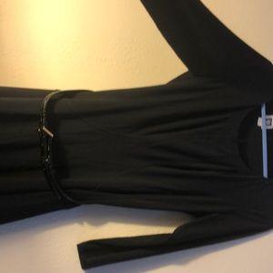 Anne Klein black belted dress